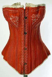Another 1880s corset. From the Metropolitan.