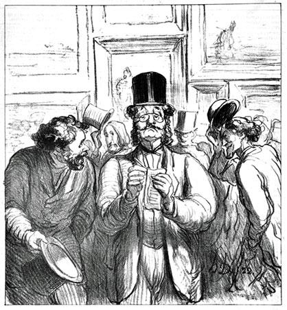 Daumier's La Promenade du Critique Influent